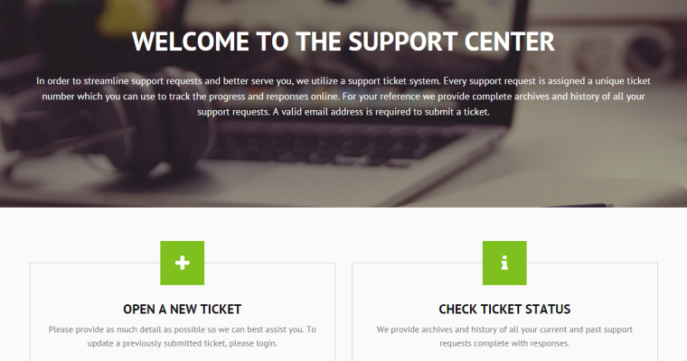 osTicket responsive custom theme built on Bootstrap framework