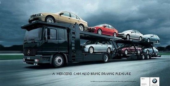 A Mercedes can also bring driving pleasure
