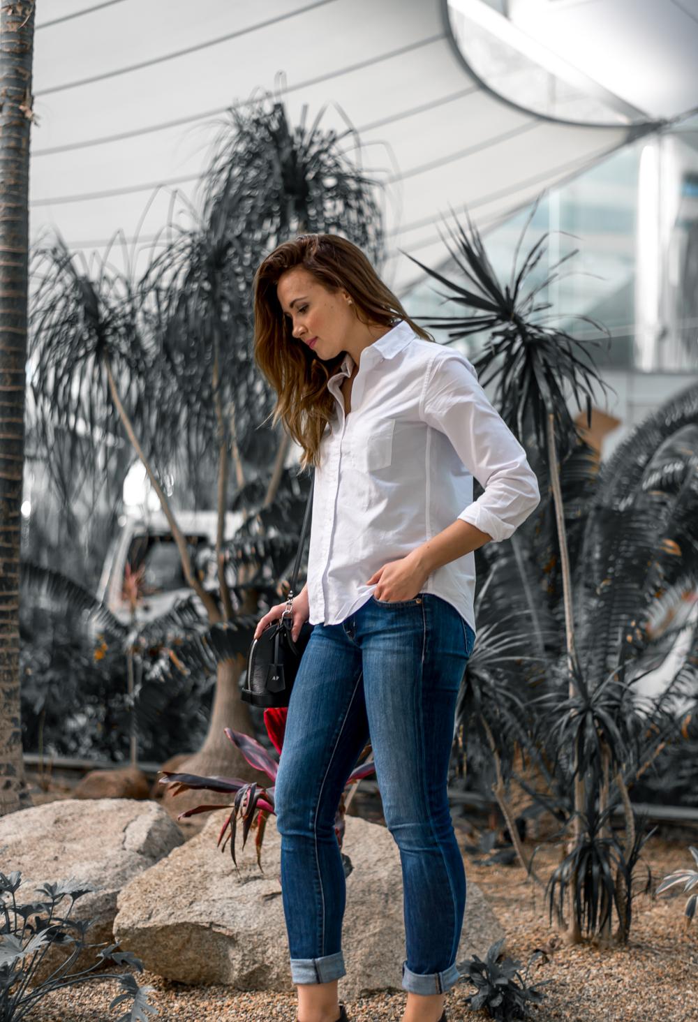 Classic white shirt and denim