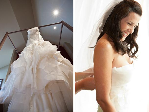 white gown vera wang whistler bride