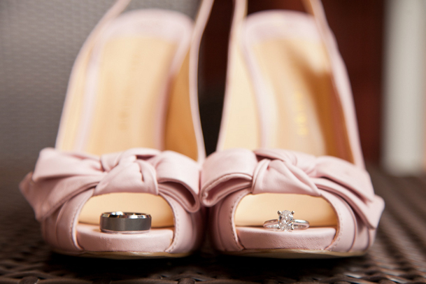 pink heels bow whistler wedding BC