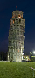 The Leaning Tower of Pisa at Night