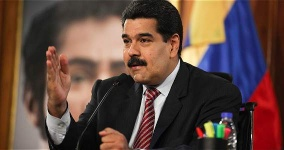 President Nicolas Maduro addresses the nation from Miraflores in Caracas (Reuters)