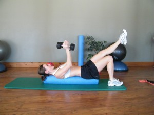 tricep on roller