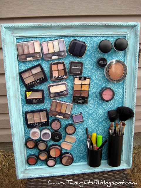 Making the World Cuter Feature: LauraThoughts Makeup Magnet Board