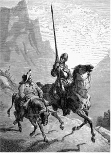 Don Quixote and Sancho Panza as depicted by Gustave Doré, 1863
