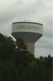 Water tower from SW section of Shreveport