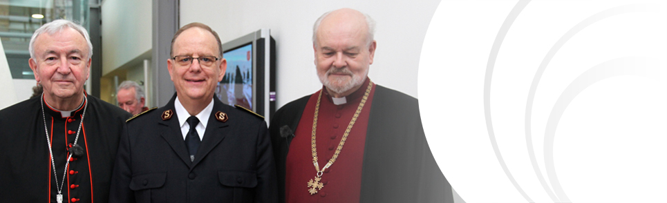 General with Bishop of London and Cardinal Nichols