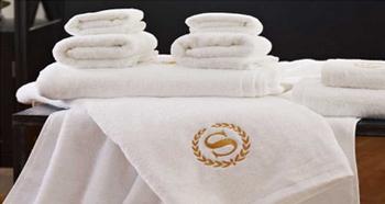 酒店毛巾绣字套装