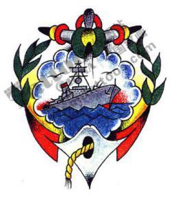 船锚海船纹身手稿