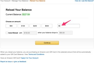 Reload your balance $60 at a time.