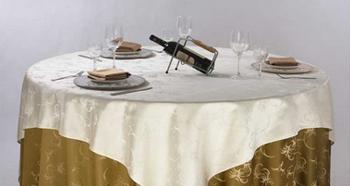 厂家批发 酒店提花桌布台布