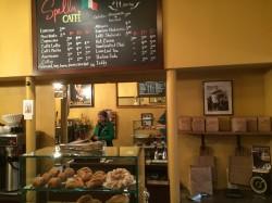 Ordering at the counter inside Spella Caffè