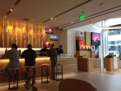 Service counter inside SF's Nespresso Boutique & Bar