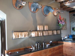 Four Barrel Coffee's boars' heads and roasted retail coffee from Stumptown