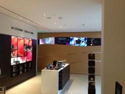 More boutique merchandising inside SF's Nespresso Boutique & Bar