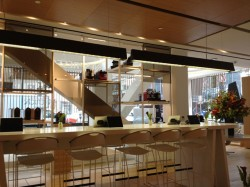 Seating space inside SF's Nespresso Boutique & Bar