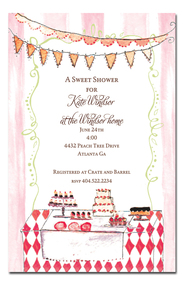 Sweet Dessert Table Party Invitations (BI-WH-7)
