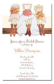 Boots and Bridesmaids Luncheon Invitations