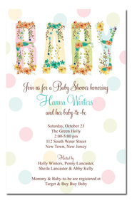 Baby Blooms Shower Invitations