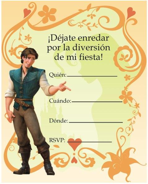 invitaciones cumpleaños rapunzel 2