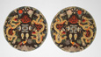 Pair of Roundels with Twelve Symbols of Imperial Authority