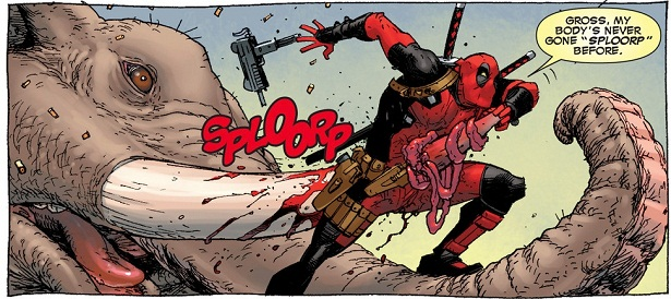 Deadpool's body says