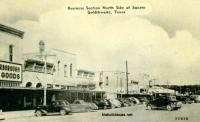 Business Section, North side of the Square, Goldthwaite, Texas 1940s