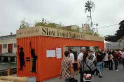 The Slow Food Nation welcome trailer at Ft. Mason