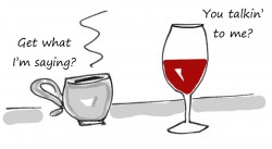 The Boston Globe shows coffee giving wine a few lessons