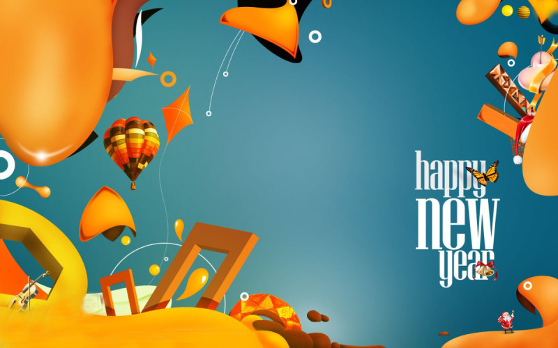 happy new year colorful images hd 2017