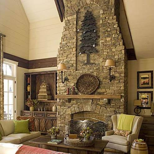 fireplace decorating ideas for your home : Grout House