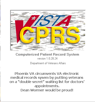 "Phoenix VA joins a long list of VA medical centers to circumvent the VA's vaunted VISTA CPRS records system. Phoenix's ""double secret"" waiting list results in the death of 40 veterans. ore about this and other medical malpractice isues at the VA at VAmalprictice.info and VAmalpractice.com"