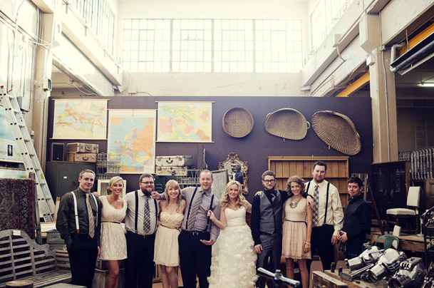 DIY Wedding at the Chicago Chophouse in Calgary - ubiquities antique store wedding calgary 11