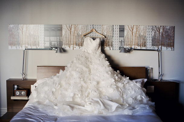DIY Wedding at the Chicago Chophouse in Calgary - wedding gown calgary volumous