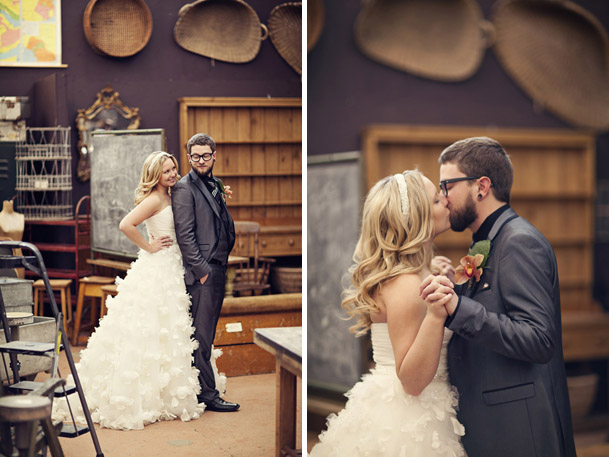 DIY Wedding at the Chicago Chophouse in Calgary - antique store portraits calgary ubiquities