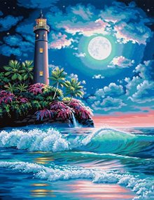 Dimensions-Needlecrafts-Paintworks-Paint-By-Number-Lighthouse-In-Moonlight-0