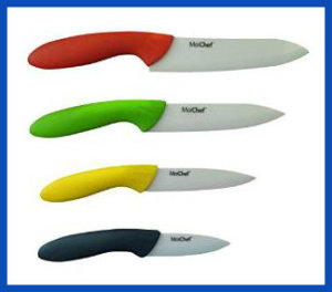 Ceramic Chef Knives-Benefits. MoiChef 8-Piece Premium Ceramic Knives Set with White Sheaths in Gift Box