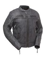 Mens Leather Jacket by First Manufacturing The Warrior King