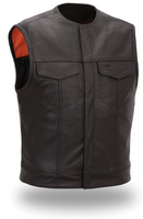 Men�s Concealed snaps clean look Motorcycle Vest