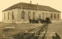 Hansford County Courthouse, Spearman, Texas early 1900s