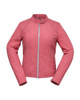 Womans Vented Racing Leather Jacket