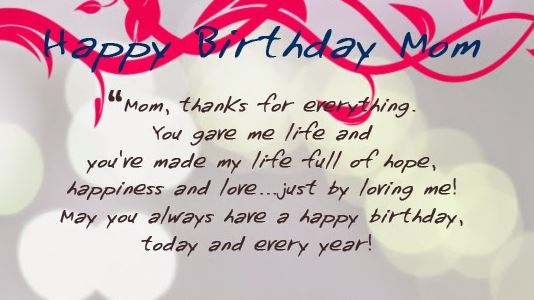Happy Birthday Mom HD Images Quotes Wishes Poems Meme Gift Ideas Present Surprise