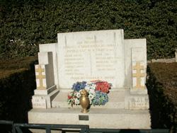 Stèle des fusillés de Signes ville d'oraison en provence