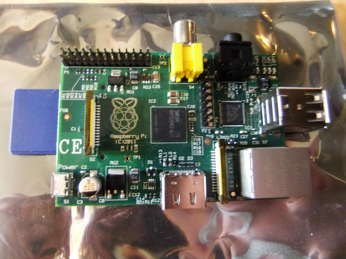Top View of Raspberry Pi