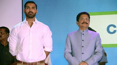 John Abraham at a charity event