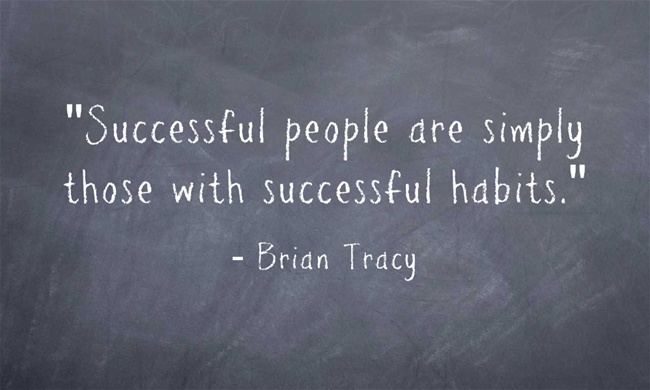 Successful people are simply those with successful habits