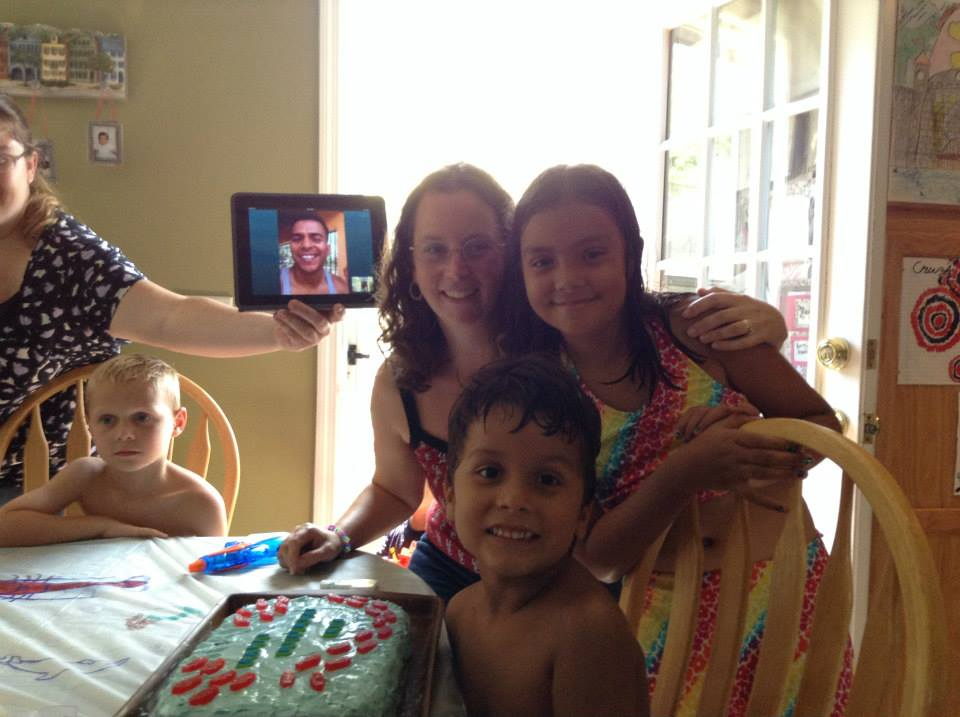 Dad forced to Skype in for son's 7th birthday
