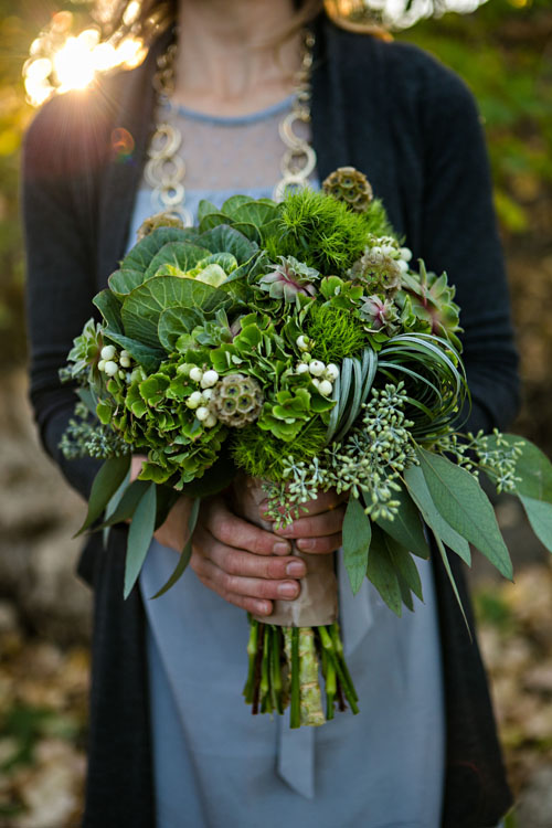 all green bouquet large