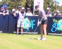 Sandra Gal 2011 womens australian golf open